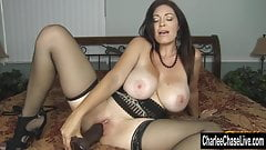 Horny Big Tit MILF Charlee Chase Stuffs Pussy With Big Black's Thumb