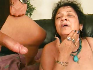 Granny Receives Facial Cumshot After Blowjob
