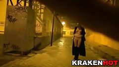 Krakenhot Strange BDSM in Public at night