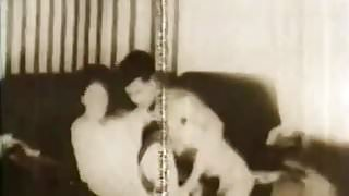 Horny Slut has Sex with her Friend (1950s Vintage)