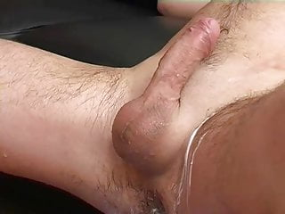 Horny guy shaving dick