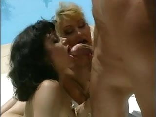 2 Awesome German Whores Take It In The Ass By The Pool