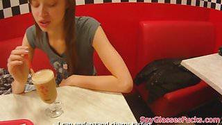 Pussyfucked babe pov filmed on spycam