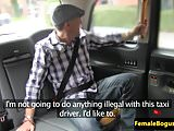 Busty english cabbie doggystyled in taxi