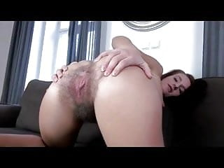 Nice Hairy Teen Showing Her Pink Pussy BVR