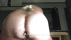 Giving anal birth to an eggplant