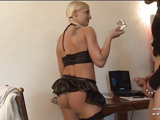 Preview 1 of Pretty young french blonde analyzed n jizzed on tits