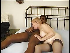 Granny with black cock