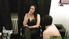 Horny slave for his german femdom domina bdsm session