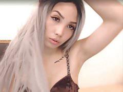 Asian girl strip cam show