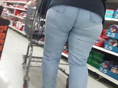 CANDID PAWG FAT ASS IN TIGHT JEANS VPL