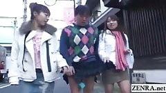Subtitles remote control Japanese public femdom teasing