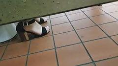 Gas Station Toilet Voyeur XXII (Young Latina In Heels)