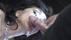 cum on slutzebra's beautiful face