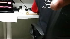 FLASHING BIG DICK AT WORK. WITH MY COWORKER