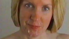 Slut wife takes cum