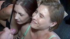 Amazing Endless Cumshot on Hot Milf Face