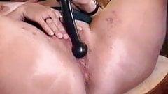 Great masturbation of a kinky mature lady