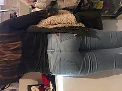 Sweet teen in jeans