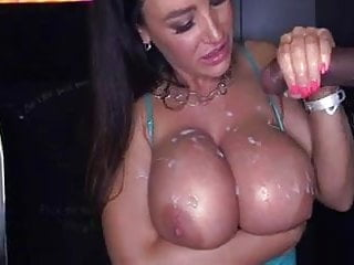 MILF Covers Tits With Cum at Glory Hole