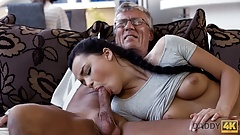 DADDY4K. Old man satisfied sexual needs of his sons gf