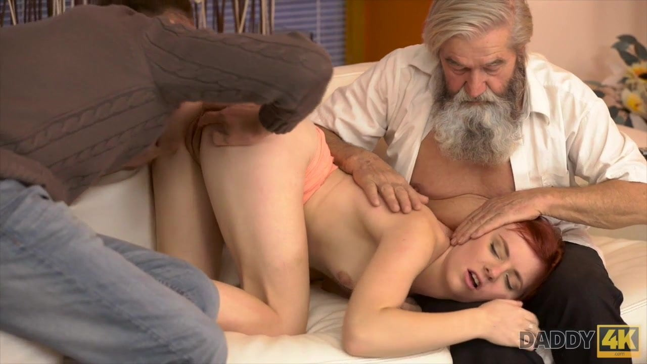 Free download & watch chick s shaved pussy is fingered by old man and son in turn          porn movies