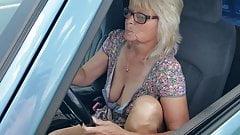 Teasing in husband truck
