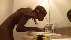 cute slim black teen with beautiful ass gangbang