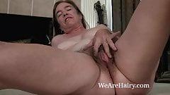 Sammie Jenkins strips nude by her fireplace