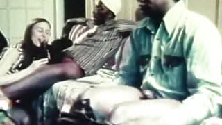 Teen in Glasses Has Sex with Black Men (1970s Vintage)
