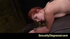 FetishNetwork Rose Red Tyrell ass fucked hard while bound