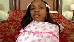 Black ebony girl creampie