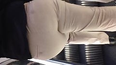 Sexy fat ass in grey pants