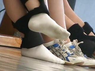 Cute Volleyballchick In White Socks