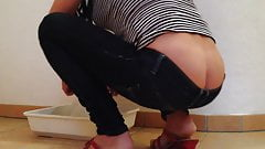 Nice ass in jeans no panty