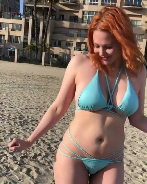 Maitland Ward Blue Bikini