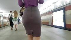 Nice ass in tight skirt