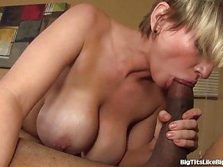 Busty Blonde Loves Big Black Dicks!