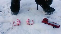 Winter crush: Lady L  crush 3 toy car.
