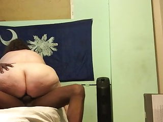 Bbw riding my cock till I cum inside her