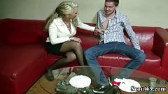 German Mother Seduce Big Dick Friend of her Daughter to Fuck