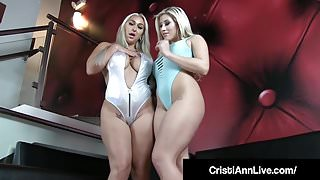 Latina Cristi Ann & Nympho Nina Kayy Tease Us With Big Butts