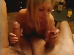Sexy Girl Blowing Two Cocks At Once