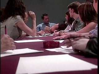 Hot young blonde gets fucked on the boardroom table