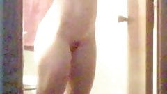 Wife spied after shower