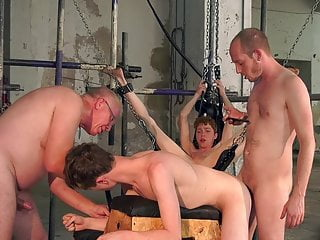 Sub twinks interviewed before bondage and rough bareback