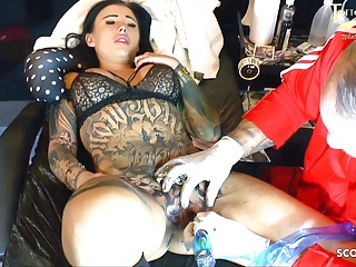 Smashed snatch black tattooed pink milf gets excellent