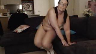 webcam bbw loses her panties and glasses