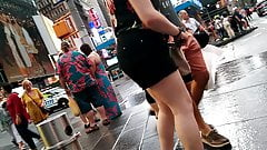 Chubby Brit in NYC streets