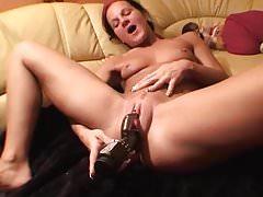 Hot Slim German Hottie Orgasms Hard With Rabbit On Big Clit